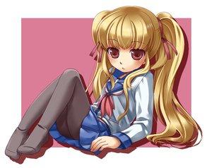 Rating: Safe Score: 22 Tags: angel_beats! blonde_hair brown_eyes loli long_hair pantyhose school_uniform skirt twintails yusa User: HawthorneKitty