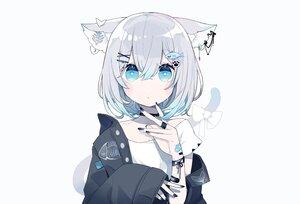 Rating: Safe Score: 61 Tags: animal_ears aqua_eyes bandaid catgirl choker chon_(chon33v) gray_hair original polychromatic short_hair tail third-party_edit white wristwear User: otaku_emmy