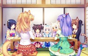 Rating: Safe Score: 30 Tags: animal_ears azuki_(sayori) bicolored_eyes black_hair blonde_hair blue_eyes brown_eyes brown_hair catgirl cat_smile chocola_(sayori) cinnamon_(sayori) coconut_(sayori) game_cg green_eyes group japanese_clothes kimono loli long_hair maple_(sayori) minazuki_shigure nekopara neko_works orange_hair purple_eyes purple_hair sayori seifuku short_hair tail vanilla_(sayori) white_hair yellow_eyes User: SciFi