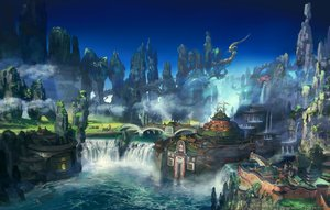 Rating: Safe Score: 76 Tags: building final_fantasy final_fantasy_xiv landscape scenic square_enix tagme_(artist) water waterfall watermark User: SciFi