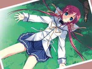 Rating: Safe Score: 31 Tags: da_capo_ii grass ribbons school_uniform shirakawa_nanaka User: rargy