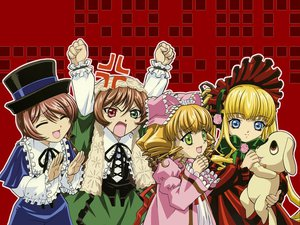 Rating: Safe Score: 8 Tags: bicolored_eyes hina_ichigo kunkun rozen_maiden shinku souseiseki suiseiseki User: Oyashiro-sama