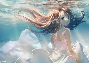 Rating: Safe Score: 71 Tags: brown_eyes brown_hair hanako151 long_hair original signed underwater water User: Dreista