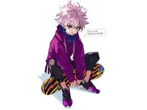 Rating: Safe Score: 18 Tags: all_male blue_eyes hoodie hunter_x_hunter killua_zaoldyeck male purple_hair short_hair white yuu_(higashi_no_penguin) User: otaku_emmy