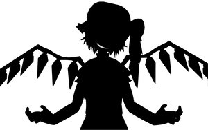 Rating: Safe Score: 97 Tags: flandre_scarlet monochrome silhouette touhou vampire vector wings User: ArmchairTitan
