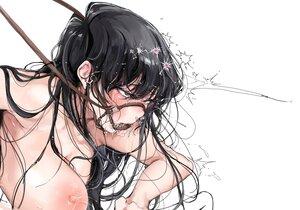 Rating: Questionable Score: 76 Tags: black_hair blush bondage breasts close komi-san_wa_komyushou_desu komi_shouko long_hair mamimi_(mamamimi) polychromatic User: FormX