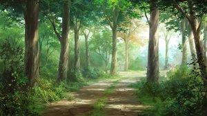 Rating: Safe Score: 75 Tags: forest grass nobody original scenic tagme_(artist) tree User: RyuZU