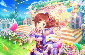 Rating: Safe Score: 13 Tags: annin_doufu bow breasts brown_hair cleavage clouds flowers grass green_eyes idolmaster idolmaster_cinderella_girls idolmaster_cinderella_girls_starlight_stage lolita_fashion long_hair microphone ponytail ribbons sky tagme_(character) wristwear User: luckyluna