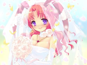 Rating: Safe Score: 17 Tags: alice_parade animal_ears bunny_ears bunnygirl butterfly elbow_gloves flowers game_cg gloves long_hair pink_hair rose unisonshift usagi_luna_hatsujou wedding_attire User: 秀悟