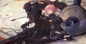 Rating: Safe Score: 62 Tags: armor blush breasts fate/grand_order fate_(series) fate/stay_night fate/zero gun lancelot_(fate) male mash_kyrielight mono_(jdaj) pink_hair purple_eyes short_hair thighhighs weapon User: BattlequeenYume
