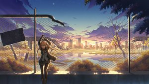 Rating: Safe Score: 57 Tags: anthropomorphism autumn blonde_hair boots building city girls_frontline long_hair pantyhose reflection ruins scenic skirt twintails ump-9_(girls_frontline) water zi_ye_(hbptcsg2) User: RyuZU
