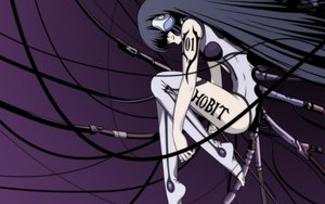 Rating: Safe Score: 117 Tags: blonde_hair chobits freya long_hair purple tattoo techgirl thighhighs User: Oyashiro-sama