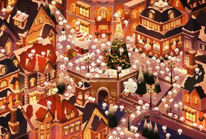 Rating: Safe Score: 42 Tags: christmas original sebascha snow snowman User: HawthorneKitty