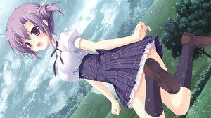 Rating: Questionable Score: 93 Tags: clouds fuyutsuki_kona game_cg izayoi_no_fortuna miyasaka_miyu purple_eyes purple_hair short_hair sky tree User: szolar