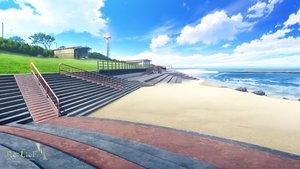 Rating: Safe Score: 67 Tags: beach clouds grass landscape logo mikago_kotaro nobody rask re:lief_~shin'ai_naru_anata_e~ scenic sky stairs tree water User: otaku_emmy