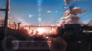 Rating: Safe Score: 96 Tags: anonamos building city clouds nobody original scenic sky sunset train translation_request User: Flandre93