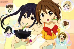 Rating: Safe Score: 51 Tags: akiyama_mio barefoot bikini black_hair blush brown_eyes brown_hair bubbles chibi group hirasawa_ui hirasawa_yui k-on! kotobuki_tsumugi long_hair nakano_azusa scan short_hair skirt suzuki_jun swimsuit tagme_(artist) tainaka_ritsu twintails wink User: RyuZU