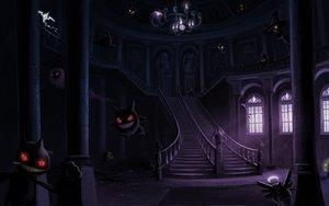 Rating: Safe Score: 173 Tags: arkeis-pokemon banette chandelure cofagrigus dark drifblim drifloon dusclops dusknoir duskull frillish froslass gastly gengar giratina golett golurk haunter jellicent lampent litwick misdreavus mismagius pokemon red_eyes rotom sableye shedinja shuppet spiritomb stairs yamask User: SonicBlue