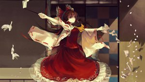 Rating: Safe Score: 103 Tags: brown_eyes brown_hair hakurei_reimu jq touhou User: ju_chan