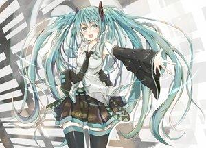 Rating: Safe Score: 54 Tags: hatsune_miku long_hair twintails vocaloid User: humanpinka