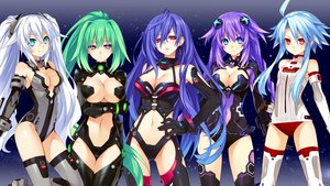 Rating: Safe Score: 266 Tags: black_heart blanc green_heart hyperdimension_neptunia hyperdimension_neptunia_v iris_heart neptune noire purple_heart pururut tsunako vert white_heart User: aznBottle