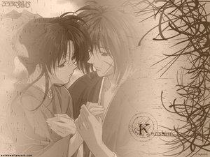 Rating: Safe Score: 3 Tags: himura_kenshin japanese_clothes kamiya_kaoru male rurouni_kenshin scar tears User: Oyashiro-sama