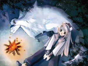 Rating: Safe Score: 12 Tags: animal fire shiina_you shiina_yuu tagme wolf User: Oyashiro-sama