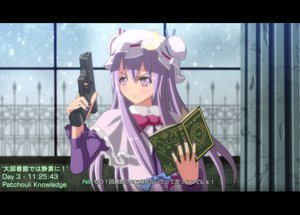 Rating: Safe Score: 49 Tags: book call_of_duty dress gun hat long_hair patchouli_knowledge pink_eyes purple_hair ribbons snow tomon_(slash0410) touhou weapon User: ガラス
