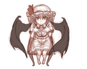 Rating: Safe Score: 50 Tags: barefoot blush kuro_suto_sukii monochrome red_eyes remilia_scarlet short_hair sketch touhou vampire wings User: PAIIS