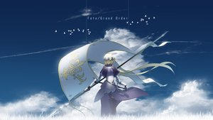 Rating: Safe Score: 37 Tags: animal armor asuteroid bird blonde_hair chain clouds dress elbow_gloves fate/grand_order fate_(series) gloves gray_eyes headdress jeanne_d'arc_(fate) long_hair sky spear thighhighs weapon User: RyuZU