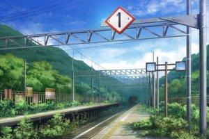 Rating: Safe Score: 34 Tags: clouds grass original scenic sky tagme_(artist) train tree User: otaku_emmy
