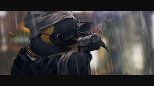 Rating: Safe Score: 108 Tags: animal arknights close gh_(chen_ghh) gun headdress necklace penguin rain smoking sunglasses the_emperor_(arknights) water weapon User: otaku_emmy