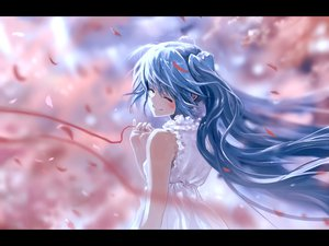 Rating: Safe Score: 113 Tags: blue_hair bob_(biyonbiyon) dress hatsune_miku long_hair petals vocaloid User: opai