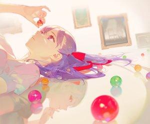 Rating: Safe Score: 87 Tags: asukaziye cropped dark_matou_sakura fate_(series) fate/stay_night gray_hair long_hair matou_sakura purple_eyes purple_hair red_eyes reflection ribbons User: otaku_emmy