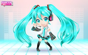Rating: Safe Score: 11 Tags: chibi hatsune_miku headphones thighhighs twintails vocaloid User: HawthorneKitty