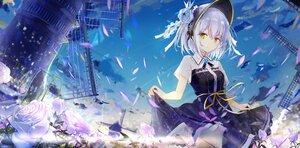 Rating: Safe Score: 103 Tags: dress flowers hat original sky tatsukisan windmill User: BattlequeenYume