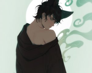 Rating: Safe Score: 12 Tags: all_male animal_ears black_hair catboy cropped e7_(runaway162) hoodie male original short_hair User: mattiasc02