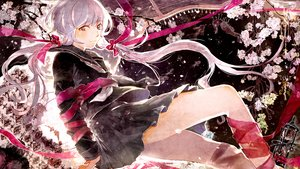 Rating: Safe Score: 100 Tags: cherry_blossoms gon_(gororingo) long_hair pink_hair ribbons seifuku skirt tears twintails vocaloid yuzuki_yukari User: FormX
