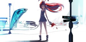 Rating: Safe Score: 113 Tags: boots corticarte_apa_lagranges dress el-zheng flowers k-on! long_hair petals red_hair shinkyoku_soukai_polyphonica User: minabiStrikesAgain