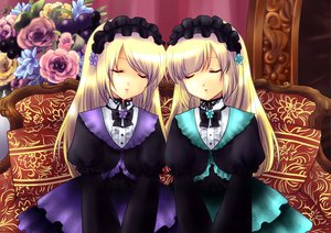 Rating: Safe Score: 22 Tags: blonde_hair dress flowers hortense long_hair ribbons sound_horizon violette User: Tensa