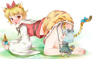 Rating: Safe Score: 49 Tags: 2girls animal animal_ears barefoot blush chibi fang michii_yuuki mouse nazrin skirt tail toramaru_shou touhou upskirt User: PAIIS