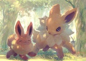 Rating: Safe Score: 22 Tags: animal eevee forest fox jolteon manino_(mofuritaionaka) nobody pokemon signed tree User: otaku_emmy