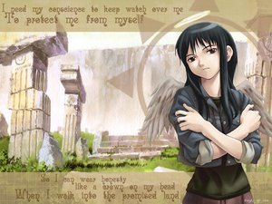 Rating: Safe Score: 11 Tags: haibane_renmei reki wings User: Oyashiro-sama
