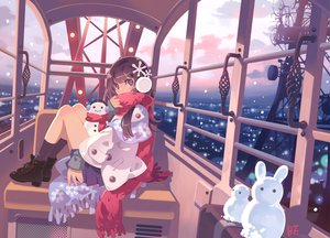 Rating: Safe Score: 74 Tags: bf._(sogogiching) bf's_ok_farm brown_eyes brown_hair bunny original scarf signed skirt snow snowman socks winter User: w7382001
