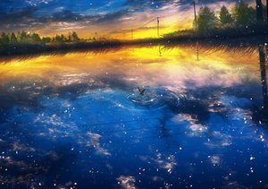 Rating: Safe Score: 91 Tags: animal bird clouds landscape nobody original reflection scenic sky water y_y_(ysk_ygc) User: BattlequeenYume