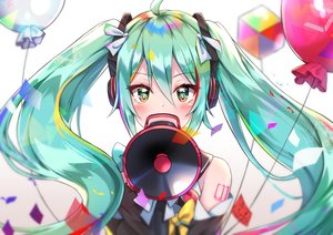 Rating: Safe Score: 51 Tags: blush close cuna_(qunya) green_eyes green_hair hatsune_miku headphones long_hair magical_mirai_(vocaloid) tattoo twintails vocaloid User: otaku_emmy