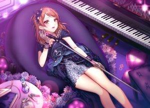 Rating: Safe Score: 32 Tags: dress flowers houjou_karen idolmaster idolmaster_cinderella_girls instrument maou(demonlord) microphone piano User: BattlequeenYume