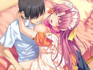 Rating: Explicit Score: 221 Tags: aoi_matsuri blush breasts game_cg headdress koutaro long_hair maid nipples pink_hair sex tropical_kiss twinkle User: Wiresetc