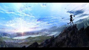 Rating: Safe Score: 83 Tags: clouds hat landscape original scenic silhouette sky water witch yoshimo_(yoshiki_qaws) User: sadodere-chan