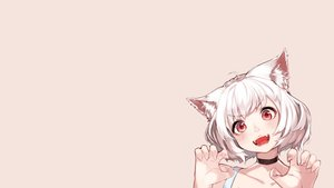 Rating: Safe Score: 20 Tags: animal_ears blush catgirl cat_smile hoshi_usagi original photoshop red_eyes short_hair white_hair User: SciFi